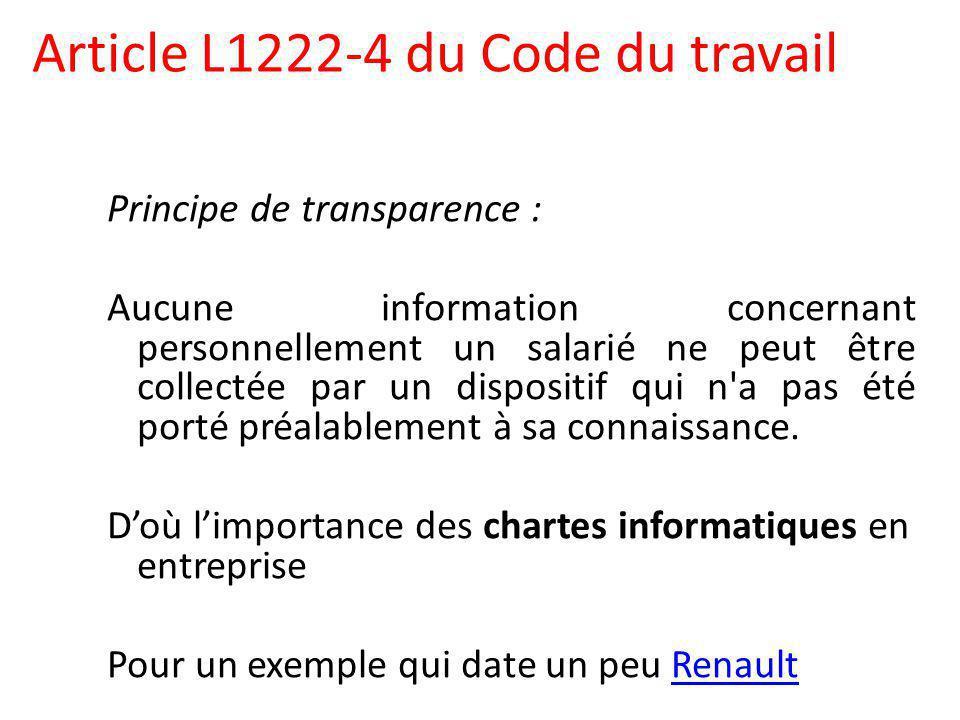 Article L1222-4 du Code du travail