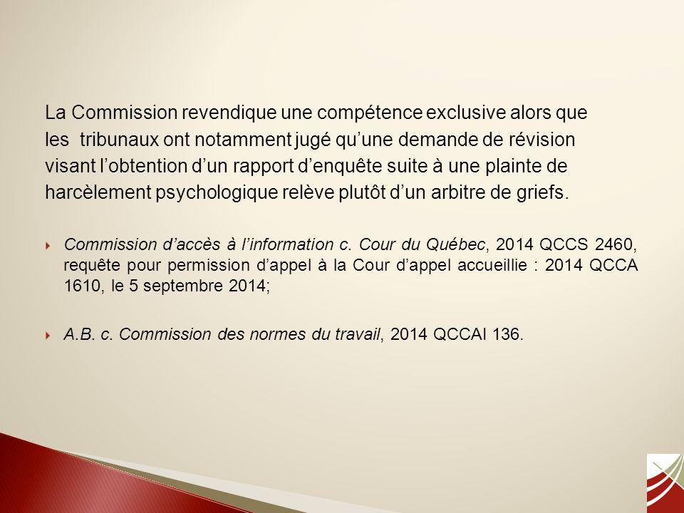 La Commission revendique une compétence exclusive alors que