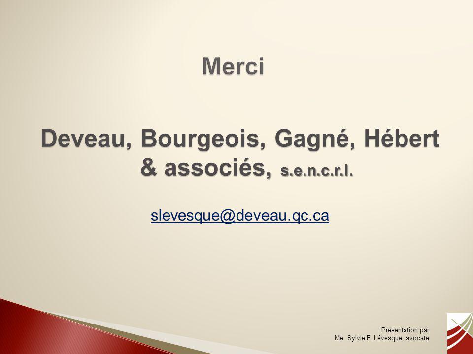 Deveau, Bourgeois, Gagné, Hébert & associés, s.e.n.c.r.l.