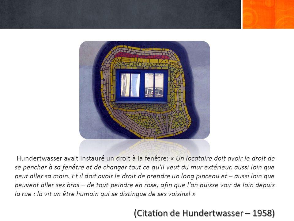 (Citation de Hundertwasser – 1958)