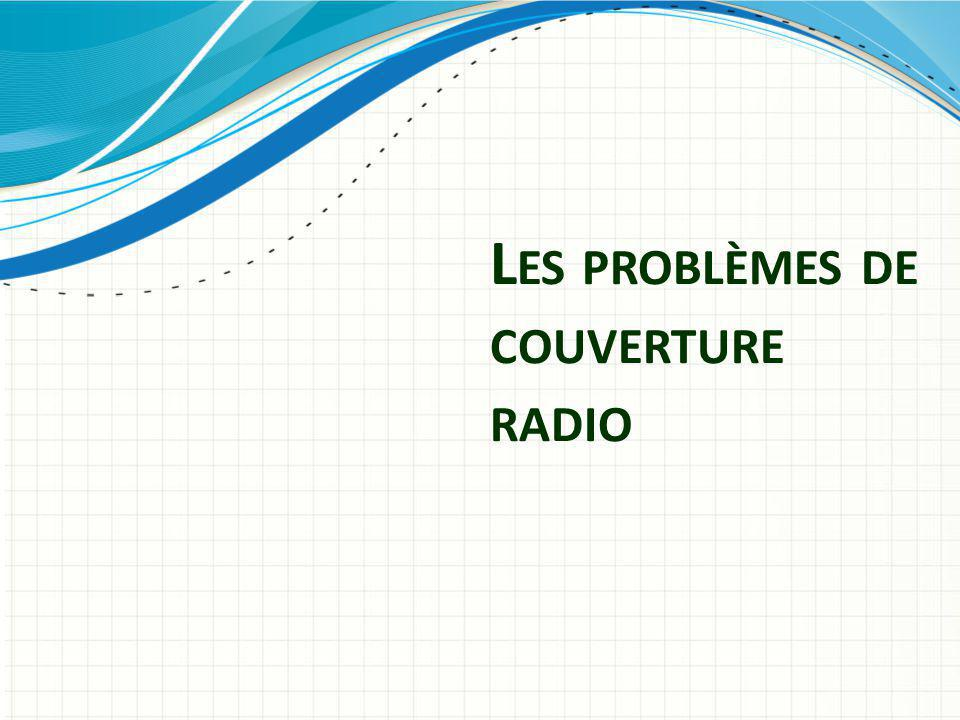 Les problèmes de couverture radio