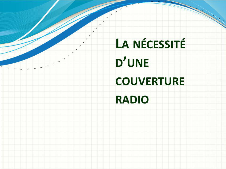 La nécessité d'une couverture radio