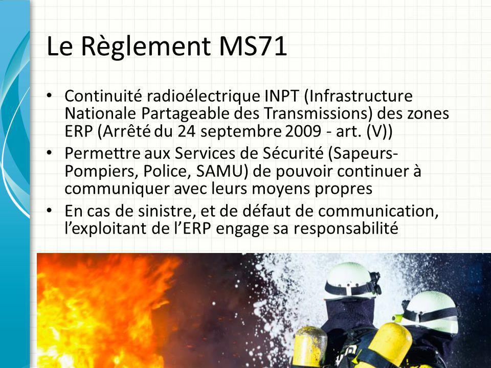 Le Règlement MS71