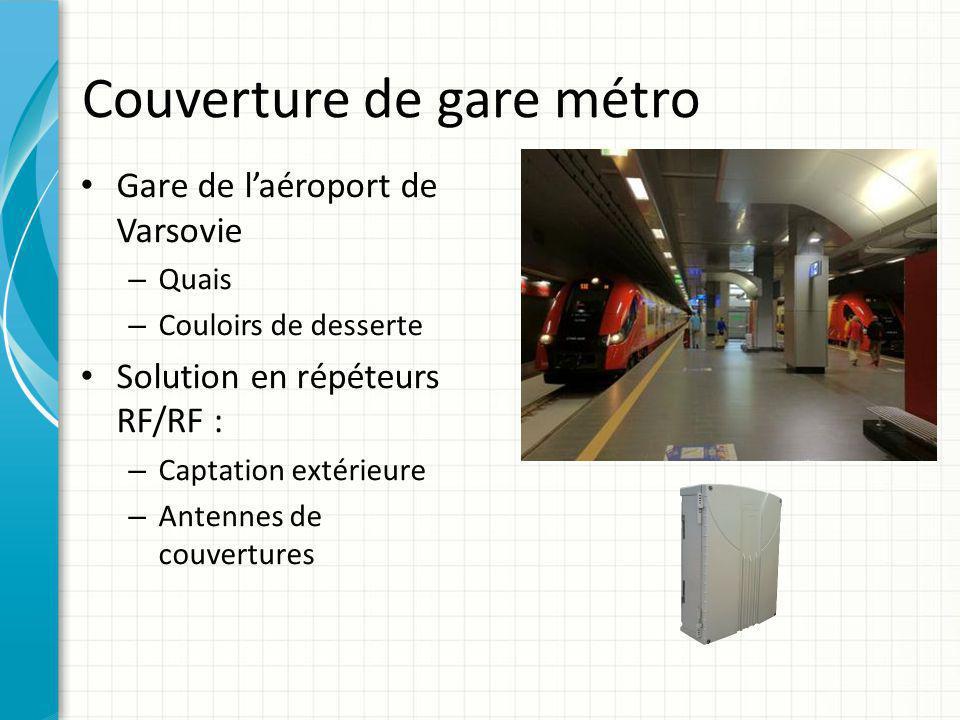Couverture de gare métro