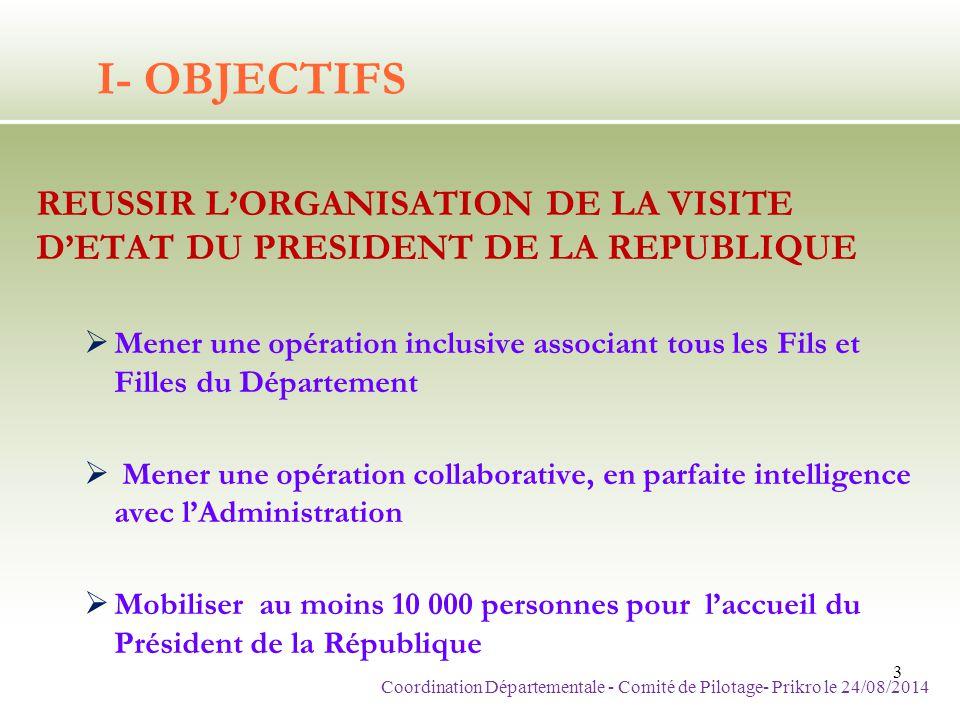 Coordination Départementale - Comité de Pilotage- Prikro le 24/08/2014