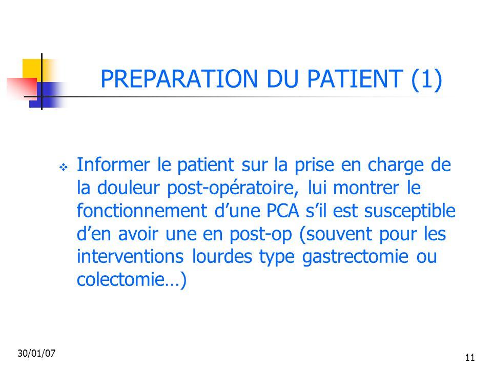 PREPARATION DU PATIENT (1)
