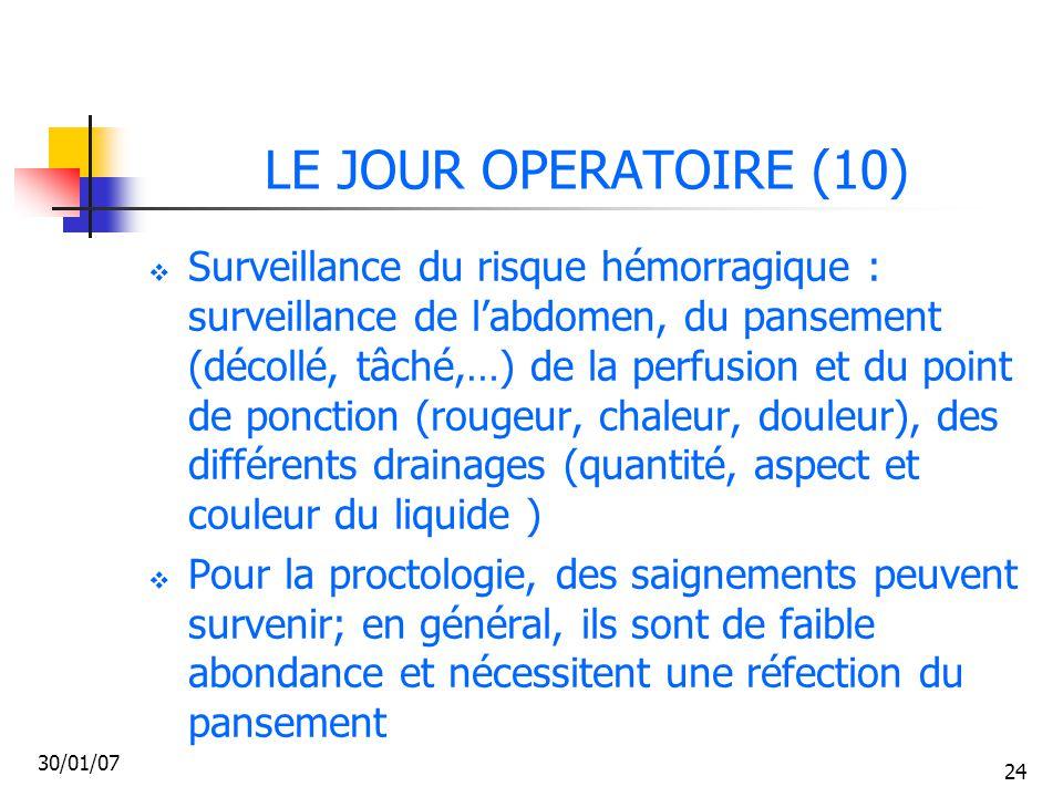 LE JOUR OPERATOIRE (10)