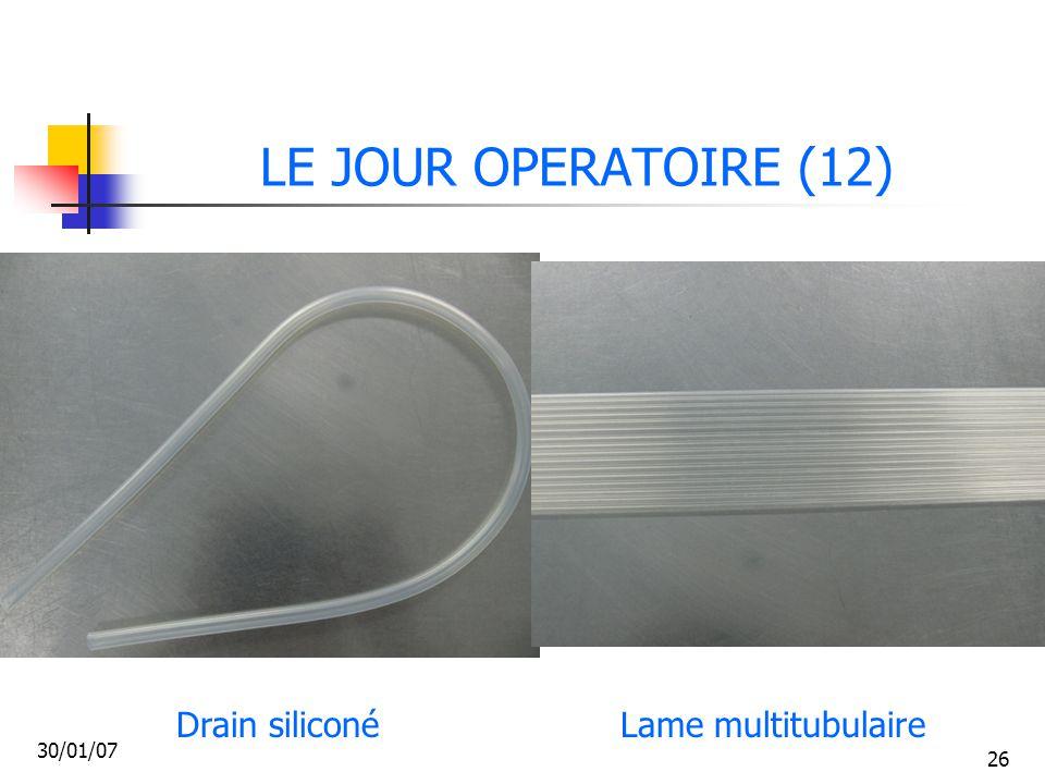 LE JOUR OPERATOIRE (12) Drain siliconé Lame multitubulaire 30/01/07