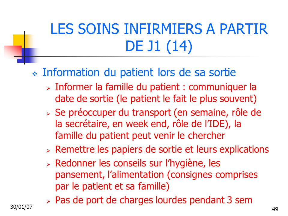 LES SOINS INFIRMIERS A PARTIR DE J1 (14)