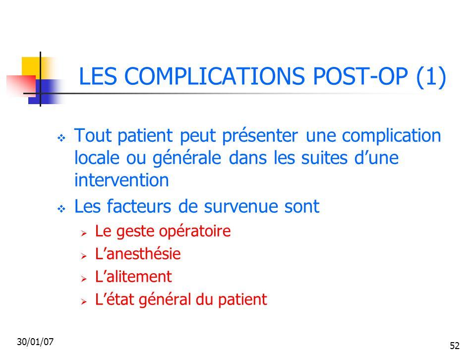 LES COMPLICATIONS POST-OP (1)