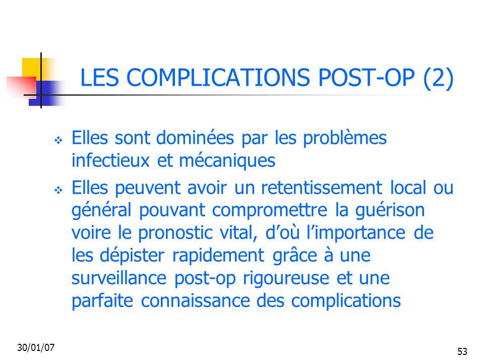 LES COMPLICATIONS POST-OP (2)