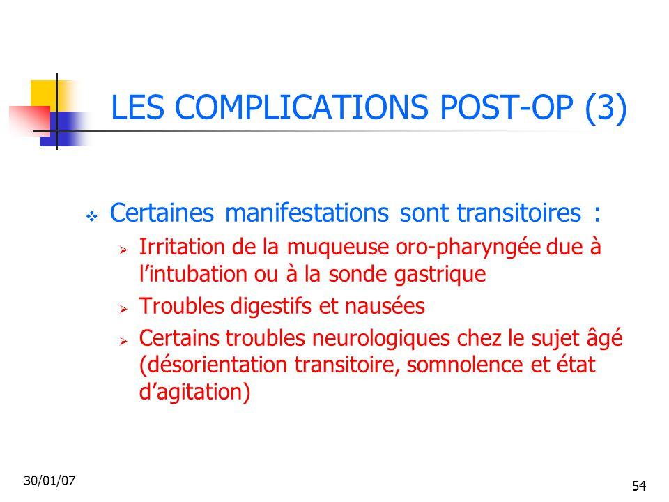 LES COMPLICATIONS POST-OP (3)