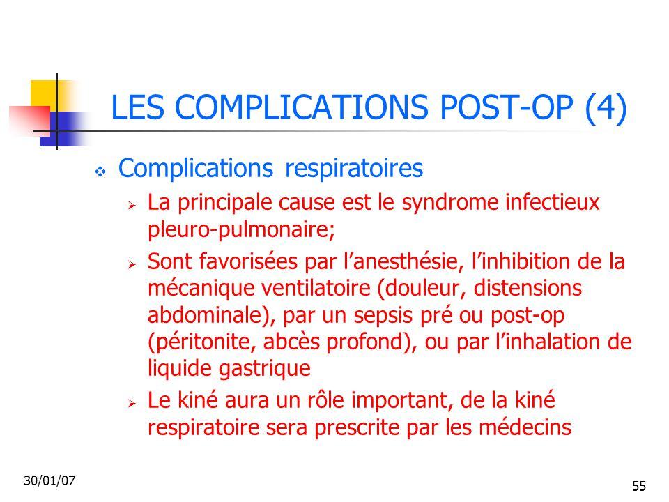 LES COMPLICATIONS POST-OP (4)
