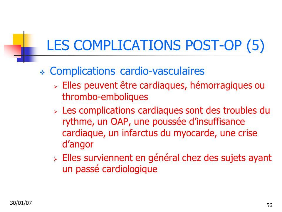 LES COMPLICATIONS POST-OP (5)