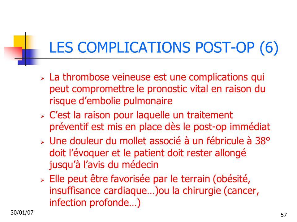 LES COMPLICATIONS POST-OP (6)