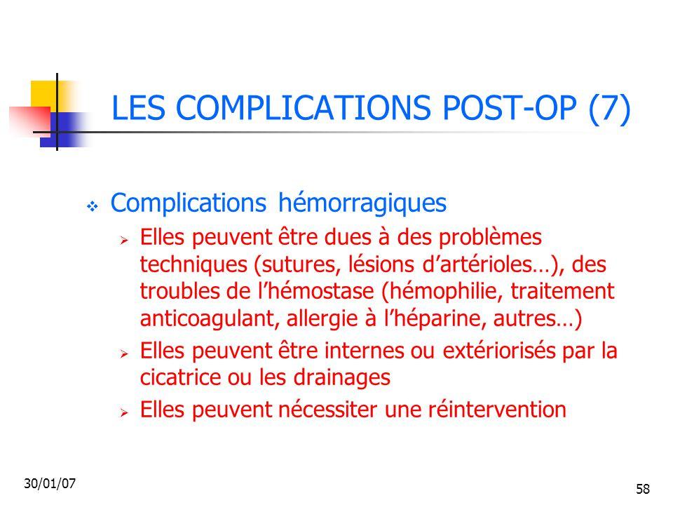 LES COMPLICATIONS POST-OP (7)