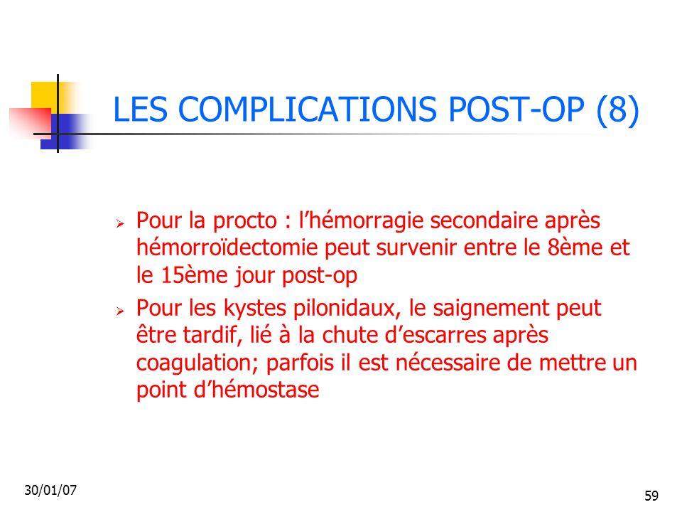 LES COMPLICATIONS POST-OP (8)