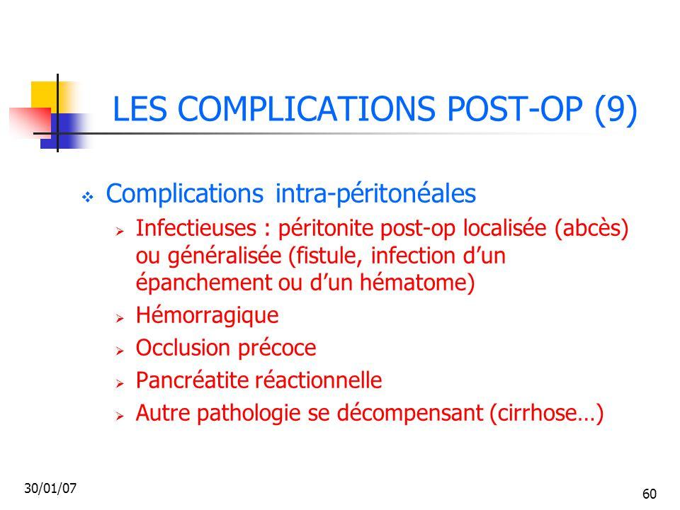 LES COMPLICATIONS POST-OP (9)