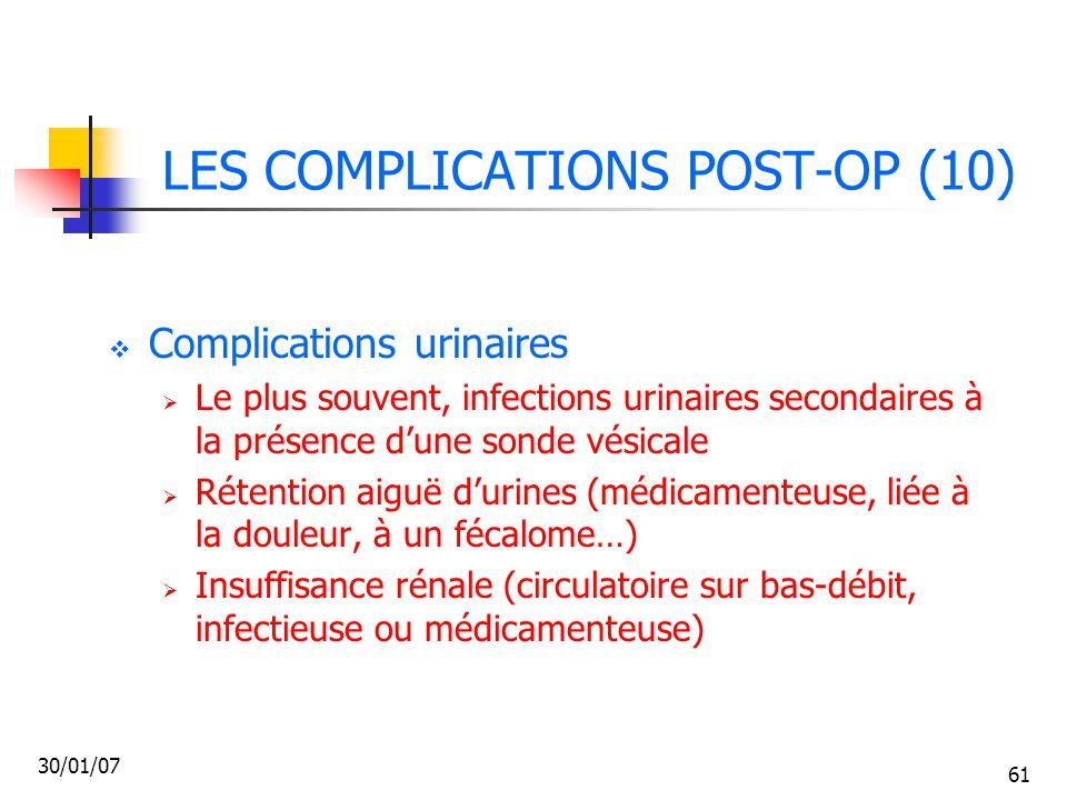 LES COMPLICATIONS POST-OP (10)