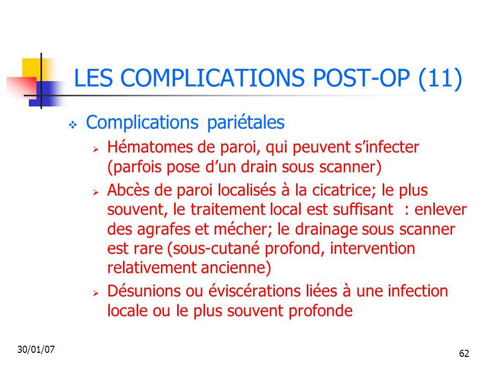 LES COMPLICATIONS POST-OP (11)