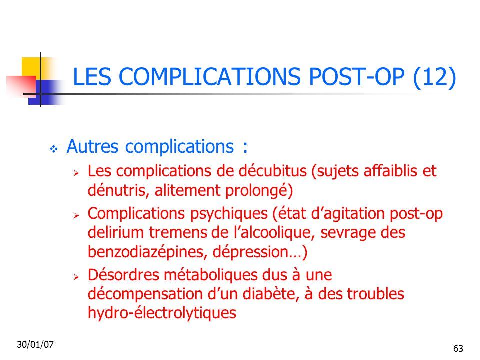 LES COMPLICATIONS POST-OP (12)