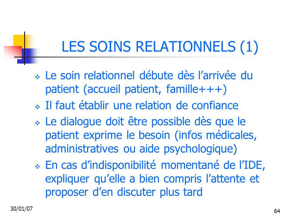 LES SOINS RELATIONNELS (1)