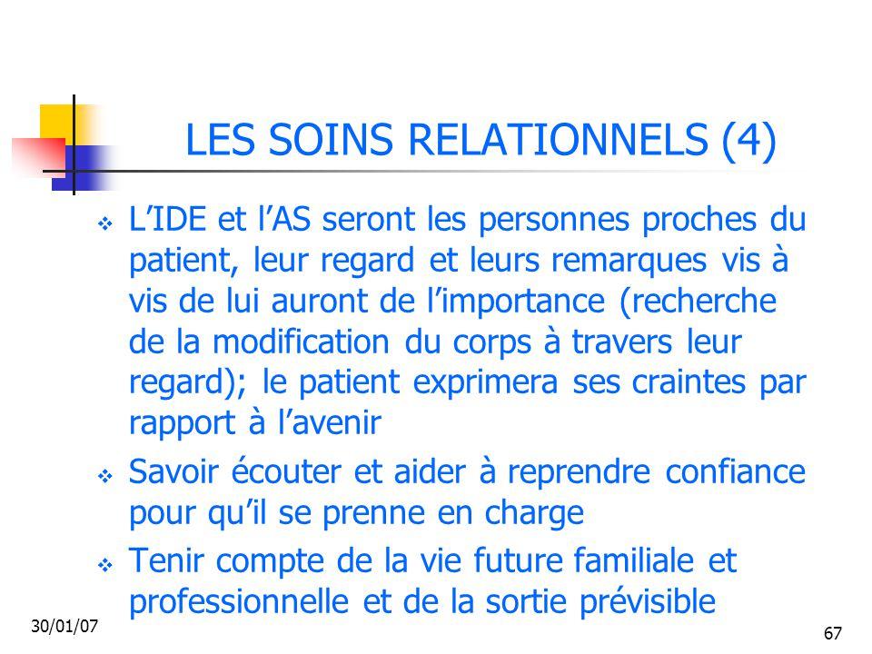 LES SOINS RELATIONNELS (4)
