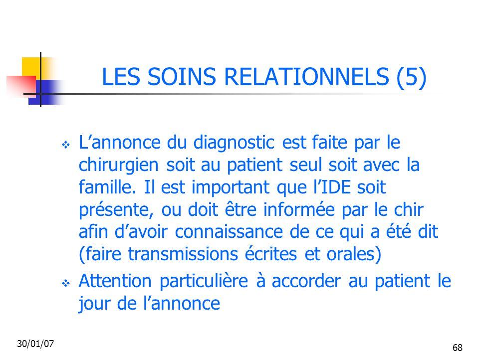 LES SOINS RELATIONNELS (5)