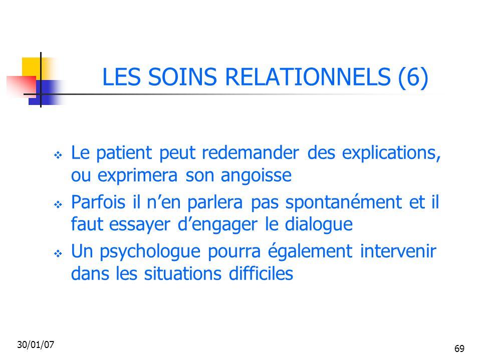 LES SOINS RELATIONNELS (6)