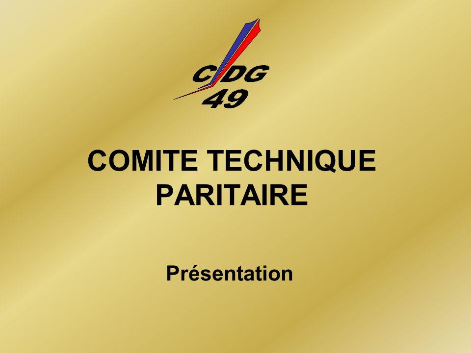 COMITE TECHNIQUE PARITAIRE