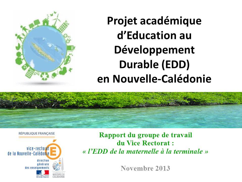 Projet académique d'Education au Développement Durable (EDD) en Nouvelle-Calédonie