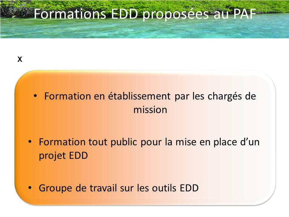 Formations EDD proposées au PAF