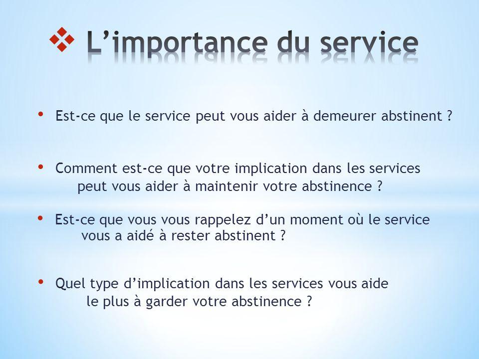 L'importance du service