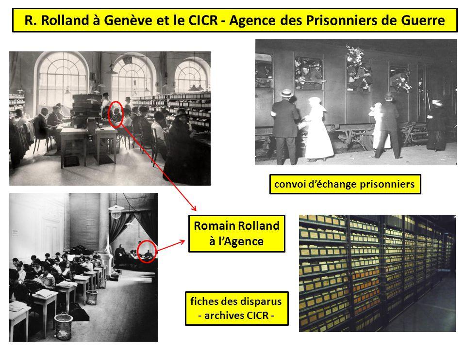 R. Rolland à Genève et le CICR - Agence des Prisonniers de Guerre