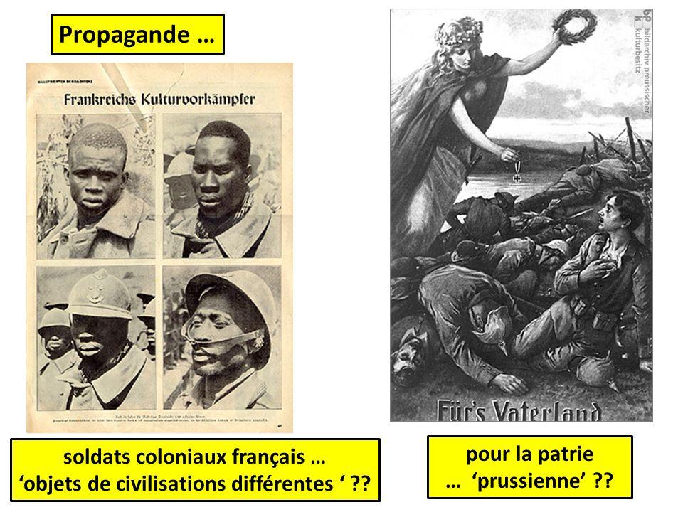 soldats coloniaux français … 'objets de civilisations différentes '