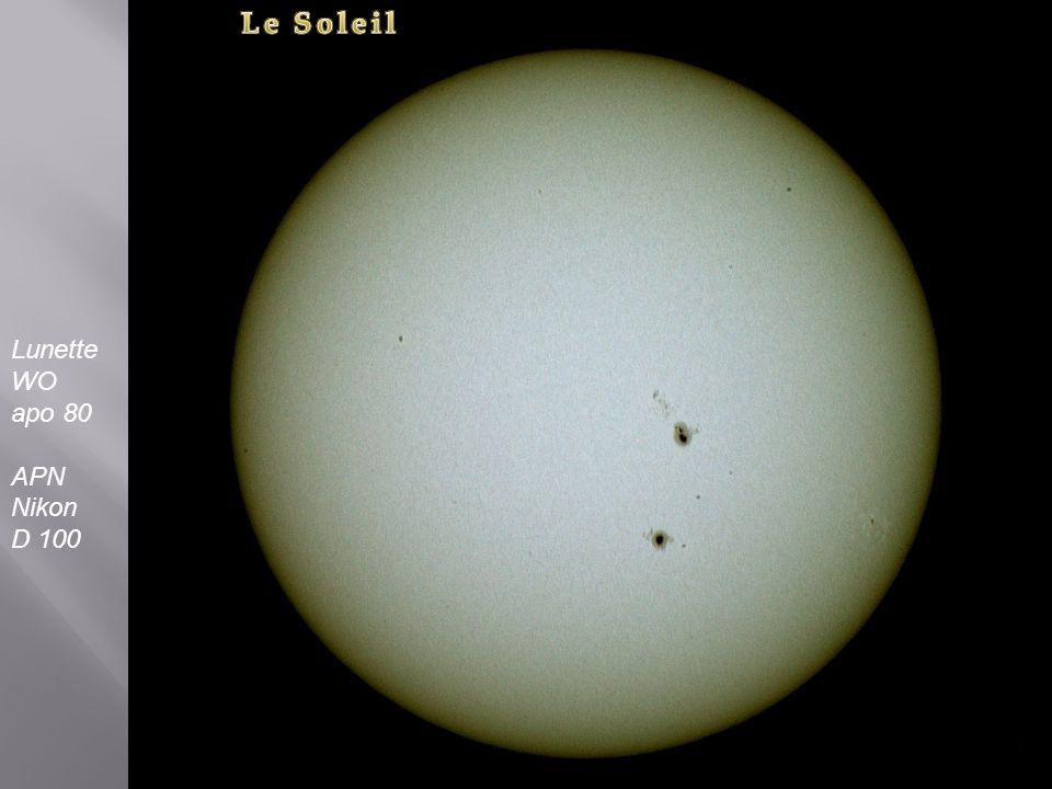 Le Soleil Lunette WO apo 80 APN Nikon D 100