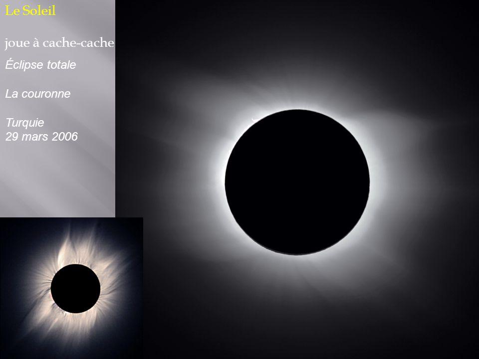 Le Soleil joue à cache-cache Éclipse totale La couronne Turquie