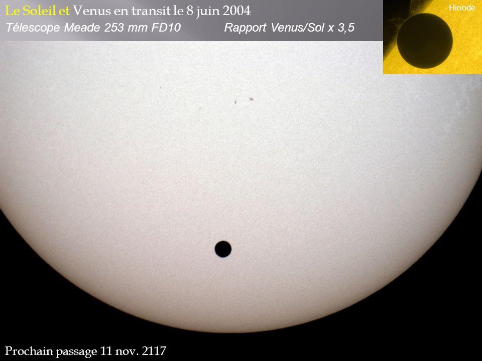 Le Soleil et Venus en transit le 8 juin 2004