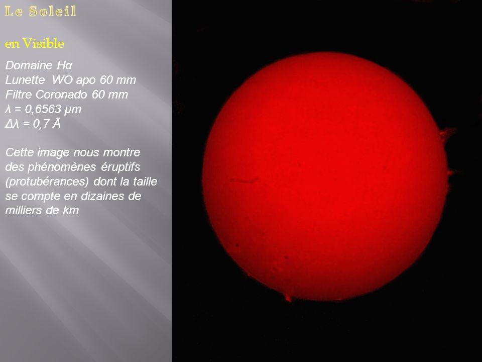 Le Soleil en Visible Domaine Hα Lunette WO apo 60 mm