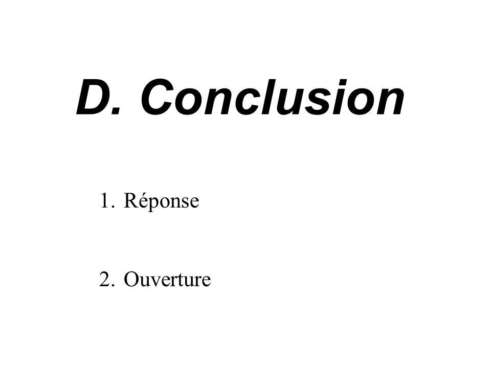 Conclusion Réponse Ouverture