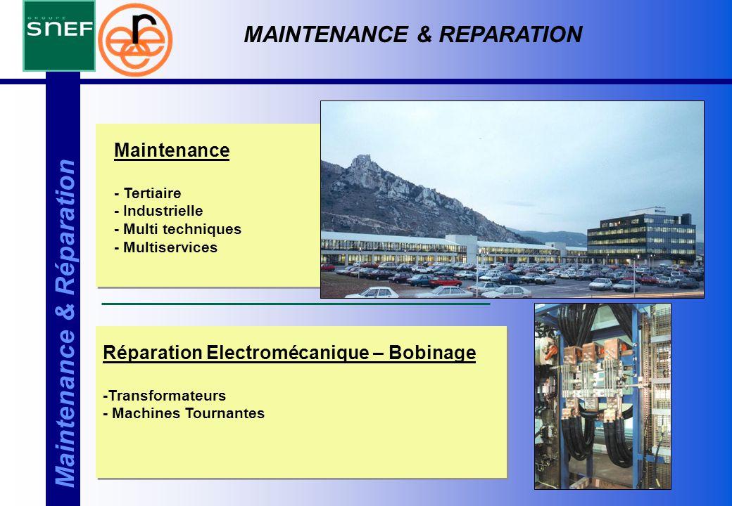 Maintenance & Réparation