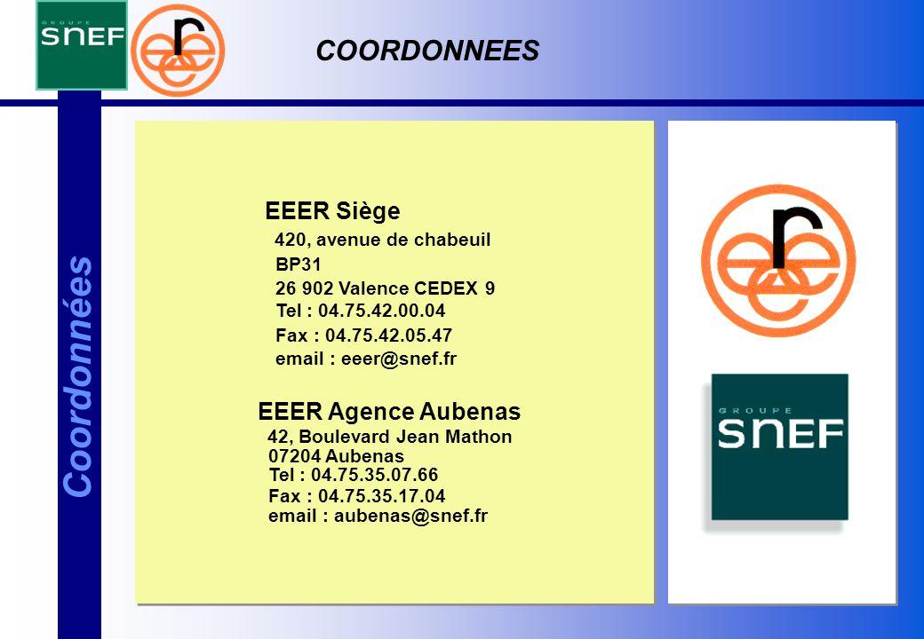 Coordonnées COORDONNEES EEER Siège EEER Agence Aubenas