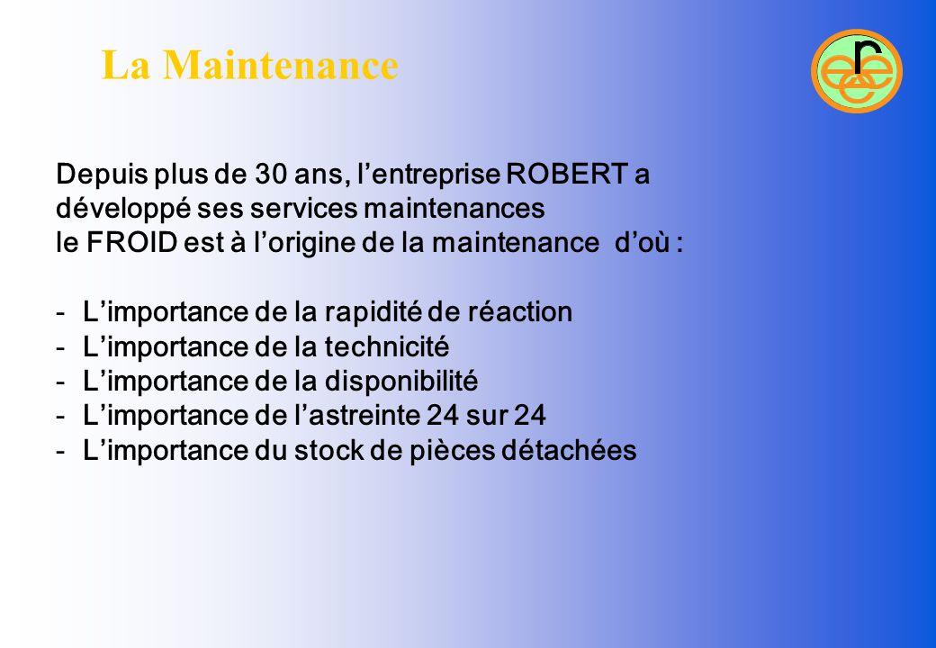 La Maintenance Depuis plus de 30 ans, l'entreprise ROBERT a