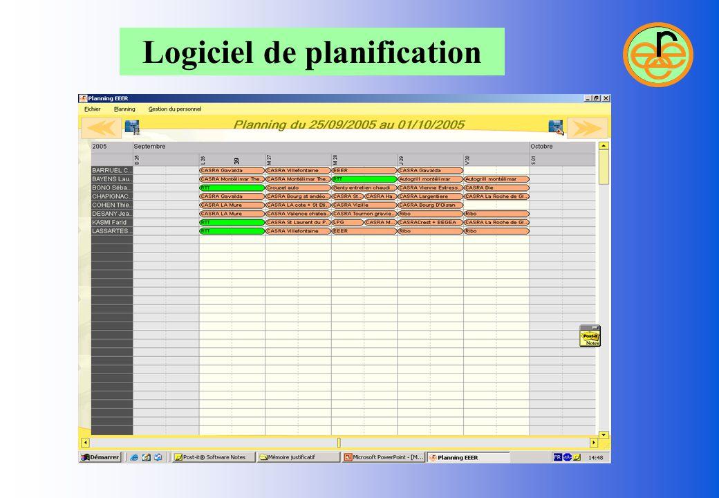 Logiciel de planification