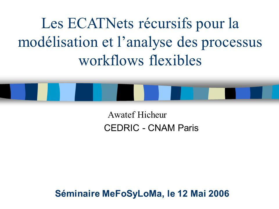 Awatef Hicheur CEDRIC - CNAM Paris