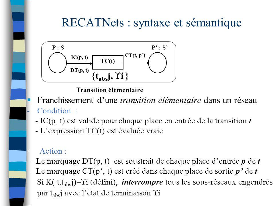 RECATNets : syntaxe et sémantique