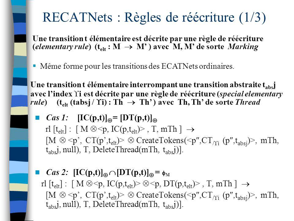 RECATNets : Règles de réécriture (1/3)