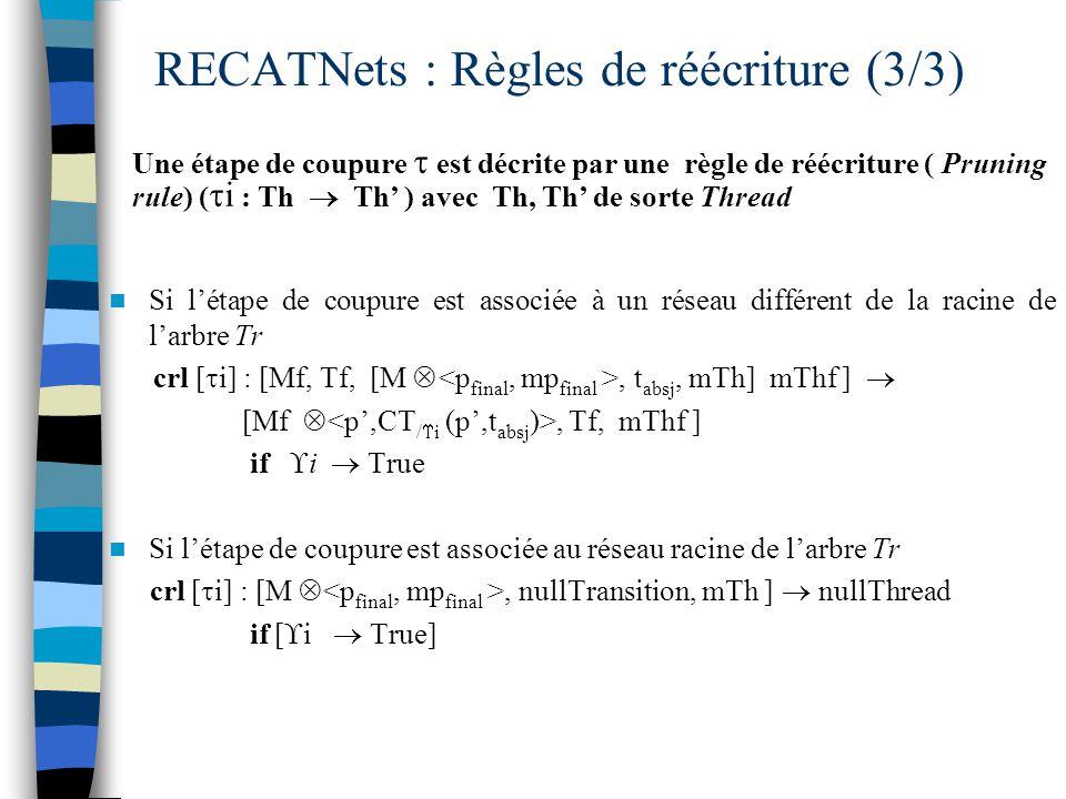 RECATNets : Règles de réécriture (3/3)