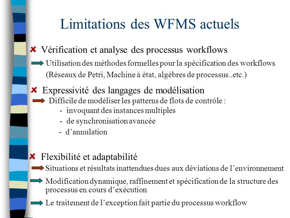 Limitations des WFMS actuels