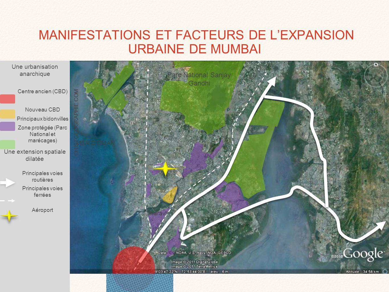 MANIFESTATIONS ET FACTEURS DE L'EXPANSION URBAINE DE MUMBAI